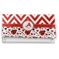 Ladybugs & Chevron Vinyl Checkbook Cover (Personalized)