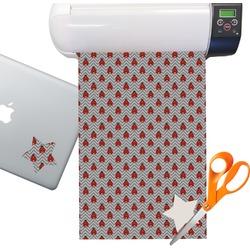 Ladybugs & Chevron Sticker Vinyl Sheet (Permanent)