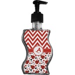Ladybugs & Chevron Wave Bottle Soap / Lotion Dispenser (Personalized)
