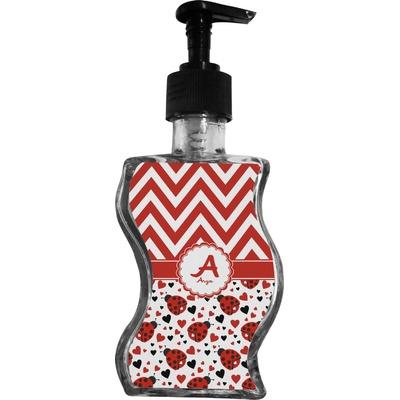 Ladybugs & Chevron Wave Bottle Soap / Lotion Dispenser (Personalized)