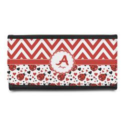 Ladybugs & Chevron Leatherette Ladies Wallet (Personalized)
