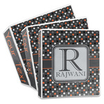 Gray Dots 3-Ring Binder (Personalized)