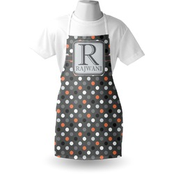Gray Dots Apron (Personalized)