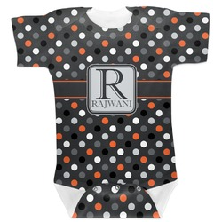 Gray Dots Baby Bodysuit (Personalized)