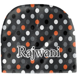 Gray Dots Baby Hat (Beanie) (Personalized)