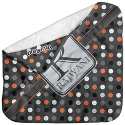 Gray Dots Baby Hooded Towel (Personalized)