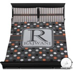 Gray Dots Duvet Cover Set (Personalized)