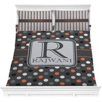 Gray Dots Comforters (Personalized)