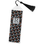 Gray Dots Book Mark w/Tassel (Personalized)
