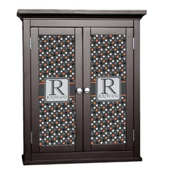 Gray Dots Cabinet Decal - Custom Size (Personalized)