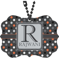 Gray Dots Rear View Mirror Charm (Personalized)