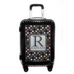 Gray Dots Carry On Hard Shell Suitcase (Personalized)
