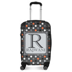 Gray Dots Suitcase (Personalized)