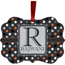 Gray Dots Ornament (Personalized)