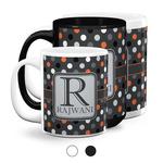 Gray Dots Coffee Mugs (Personalized)