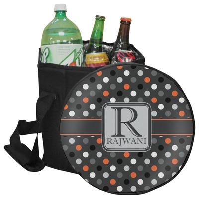 Gray Dots Collapsible Cooler & Seat (Personalized)