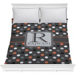Gray Dots Comforter (Personalized)