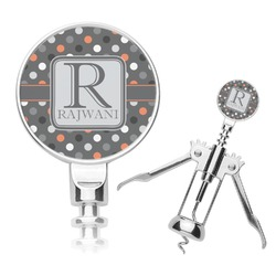 Gray Dots Corkscrew (Personalized)