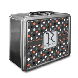 Gray Dots Lunch Box (Personalized)
