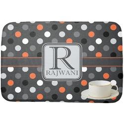 Gray Dots Dish Drying Mat (Personalized)