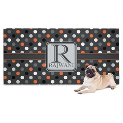 Gray Dots Dog Towel (Personalized)