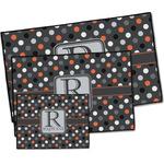 Gray Dots Door Mat (Personalized)