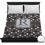 Gray Dots Duvet Cover (Personalized)