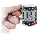 Gray Dots Espresso Cups (Personalized)