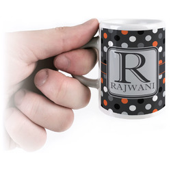 Gray Dots Espresso Mug - 3 oz (Personalized)
