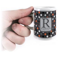 Gray Dots Espresso Cups (Personalized)
