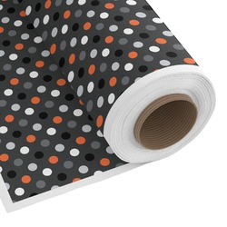 Gray Dots Custom Fabric - Spun Polyester Poplin (Personalized)