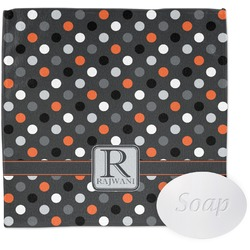 Gray Dots Wash Cloth (Personalized)