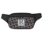 Gray Dots Fanny Pack (Personalized)