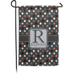 Gray Dots Garden Flag - Single or Double Sided (Personalized)