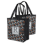 Gray Dots Grocery Bag (Personalized)