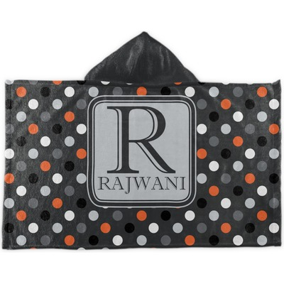 Gray Dots Kids Hooded Towel (Personalized)
