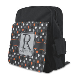 Gray Dots Preschool Backpack (Personalized)