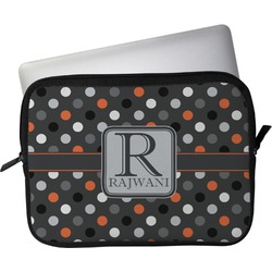 """Gray Dots Laptop Sleeve / Case - 13"""" (Personalized)"""