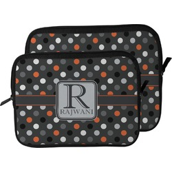 Gray Dots Laptop Sleeve / Case (Personalized)