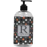 Gray Dots Plastic Soap / Lotion Dispenser (Personalized)