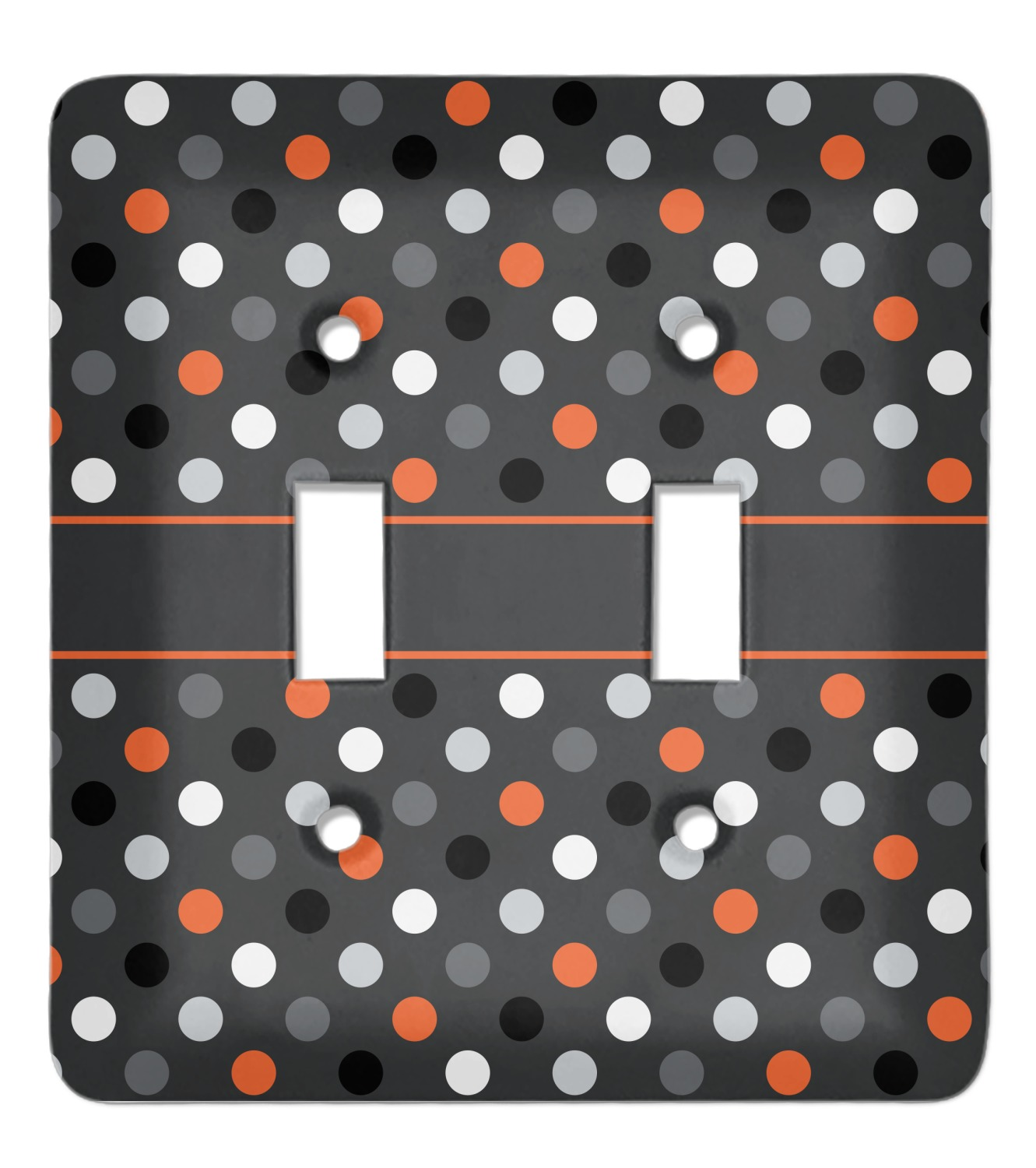 Gray Dots Light Switch Cover 2 Toggle Plate Personalized