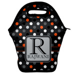 Gray Dots Lunch Bag (Personalized)