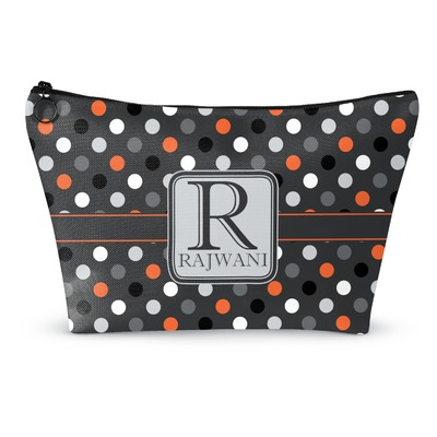 Gray Dots Makeup Bags (Personalized)