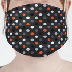 Gray Dots Face Mask Cover (Personalized)