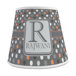 Gray Dots Empire Lamp Shade (Personalized)