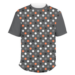 Gray Dots Men's Crew T-Shirt (Personalized)