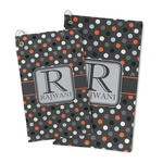 Gray Dots Microfiber Golf Towel (Personalized)
