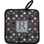Gray Dots Pot Holder (Personalized)