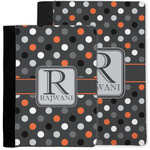 Gray Dots Notebook Padfolio w/ Name and Initial