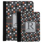 Gray Dots Padfolio Clipboard (Personalized)